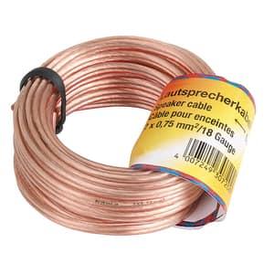 Cablu difuzor 2x 0.75 mm² HAMA 30723, 20m, transparent
