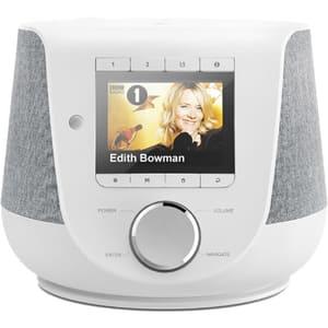 Radio cu ceas HAMA 54229, Internet, Bluetooth, FM, DAB+, alb