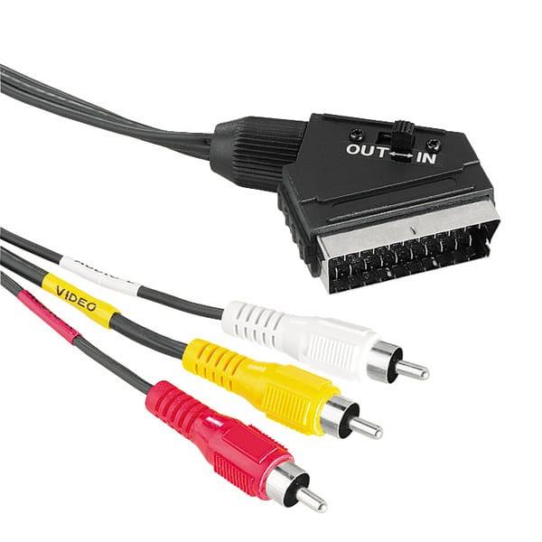 Cablu SCART HAMA 43178, 1.5m, negru