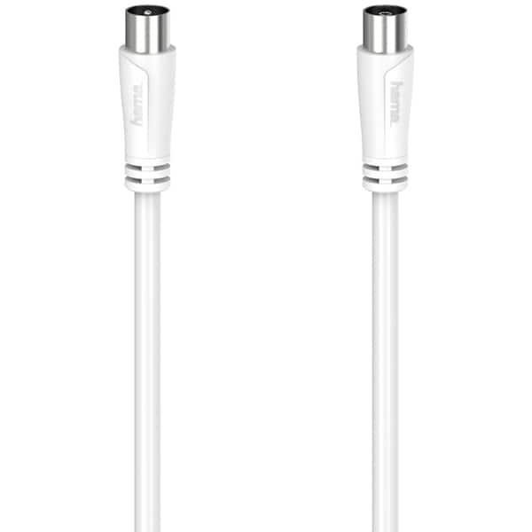 Cablu video Coaxial HAMA 205047, 5m, 90dB, alb