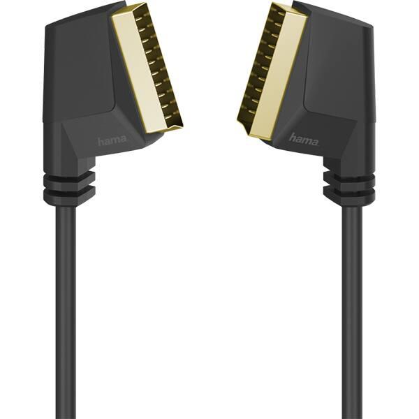 Cablu video Scart HAMA 205082, 1.5m, placat aur, negru