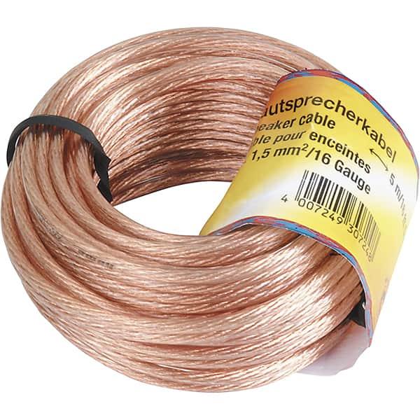 Cablu difuzor 2 x 1.55mm² HAMA 205142, 10m, transparent