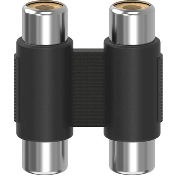 Adaptor 2 x priza RCA - 2 x priza RCA HAMA 205181, negru