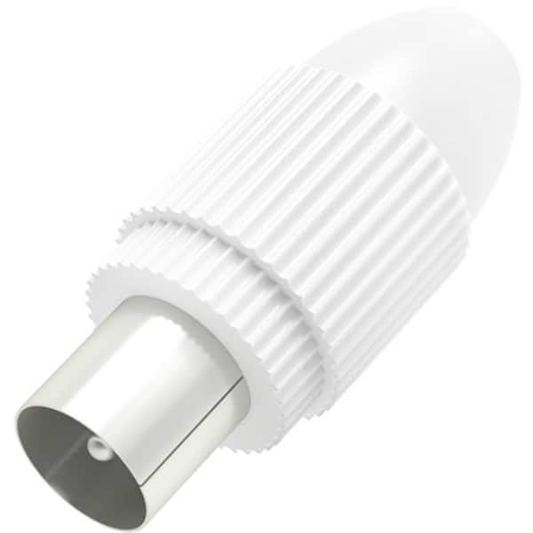 Mufa antena Coaxial Stecher HAMA 205213, alb