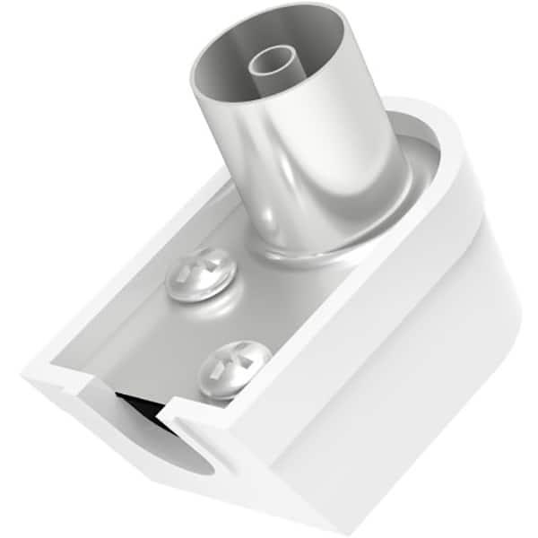Mufa antena Coaxial Stecher HAMA 205213, 90 grade, alb