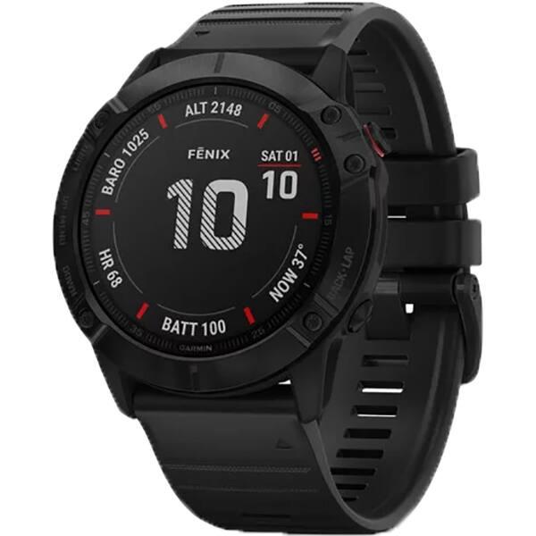 Smartwatch GARMIN Fenix 6X Pro, 51mm, Android/iOS, silicon, negru