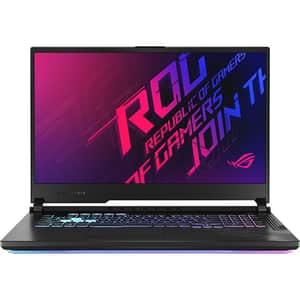 "Laptop Gaming ASUS ROG Strix G17 G712LU-EV008, Intel Core i7-10750H pana la 5GHz, 17.3"" Full HD, 16GB, SSD 512GB + 512GB, NVIDIAGeForceGTX1660Ti 6GB, Free DOS, negru"