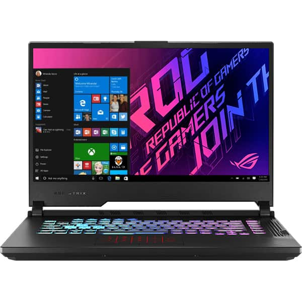 "Laptop Gaming ASUS ROG Strix G15 G512LWS-AZ003T, Intel Core i7-10750H pana la 5GHz, 15.6"" Full HD, 16GB, SSD 1TB, NVIDIA GeForce RTX 2070 Super 8GB, Windows 10 Home, negru"
