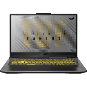 "Laptop Gaming ASUS TUF A17 FA706IU-H7045, AMD Ryzen 7-4800H pana la 4.2GHz, 17.3"" Full HD, 16GB, SSD 512GB, NVIDIA GeForce GTX 1660Ti 6GB, Free DOS, gri inchis"