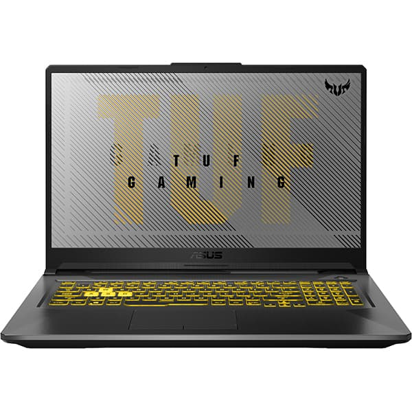 "Laptop Gaming ASUS TUF A17 FA706IU-H7045, AMD Ryzen 7 4800H pana la 4.2GHz, 17.3"" Full HD, 16GB, SSD 512GB, NVIDIA GeForce GTX 1660Ti 6GB, Free DOS, gri inchis"