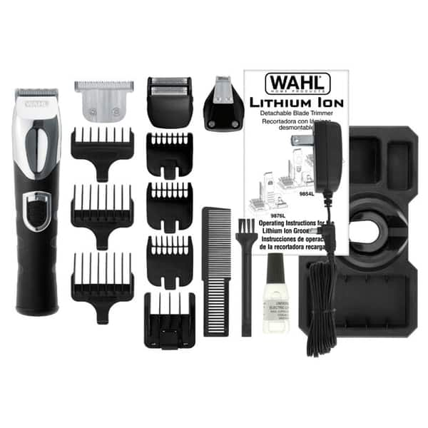 Set de ingrijire personala WAHL Lithium Ion Trimmer, acumulator, 20 mm, 4 accesorii, negru