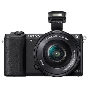 Aparat foto Mirrorless SONY Alpha A5100, 24.3 MP, Wi-Fi, negru + Obiectiv 16-50mm