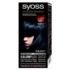 Vopsea de par SYOSS Color Bl, 1-4 Negru Albastrui, 115ml
