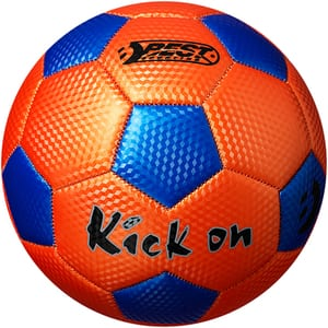 Minge fotbal BEST SPORTING 10061, marime 5, portocaliu-albastru