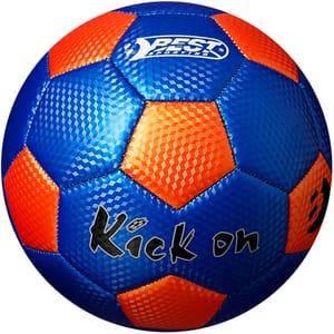 Minge fotbal BEST SPORTING 10062, marime 5, albastru-portocaliu