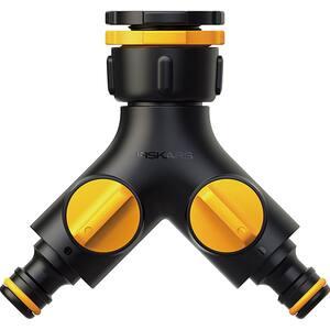 Racord robinet dublu FISKARS Multisplit 1027061, valve on/off