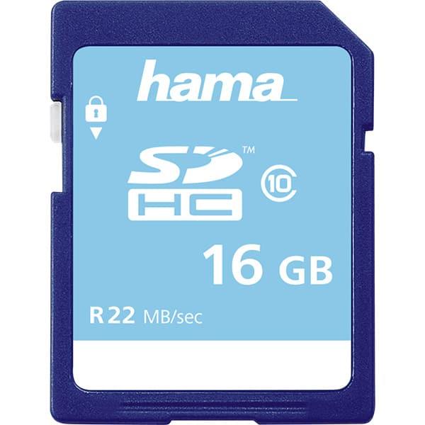 Card de memorie HAMA 104367, SDHC, 16 GB, 22 MB/s, clasa 10