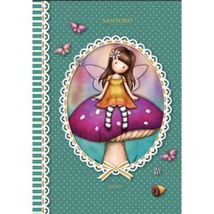 Set 5 notebook SANTORO Gorjuss, matematica, A5, 96 file, legatura capsata, diverse modele