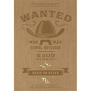 Set 5 notebook MAR MAR Wanted, matematica, A4, 60 file, legatura cusuta, diverse modele