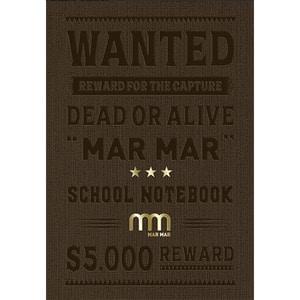 Set 5 notebook MAR MAR Wanted, dictando, A5, 60 file, legatura cusuta, diverse modele