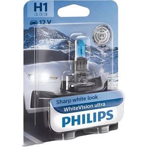 Bec auto PHILIPS White Vision Ultra, H1, 3700K, 55W, 1 buc