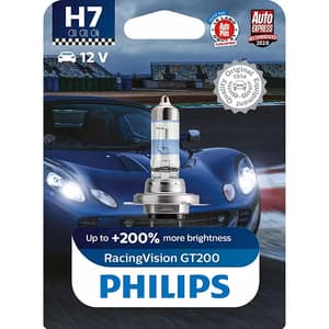 Bec auto PHILIPS Racing Vision+, 200%, H7, 3500K, 55W, 1 buc