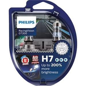 Set becuri auto PHILIPS Racing Vision+, 200%, H7, 3500K, 55W, 2 buc