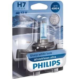 Bec auto PHILIPS White Vision Ultra, H7, 4200K, 55W, 1 buc
