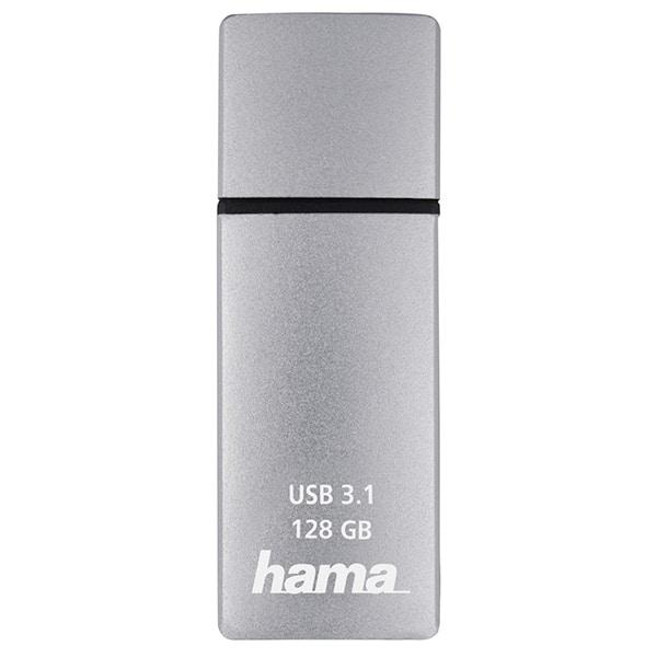 Memorie USB HAMA C-Bolt 124196, 128GB, USB 3.1 Type-C Gen 2, argintiu