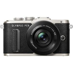 Aparat foto Mirrorless OLYMPUS E-PL8, 16.1 MP, Wi-Fi, negru + Obiectiv EZ-M 14-42mm