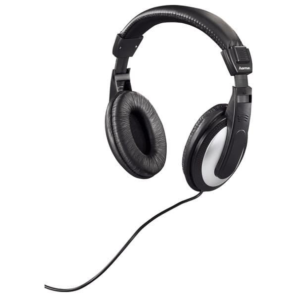 Casti HAMA HK-5619, Cu Fir, On-Ear, negru-argintiu