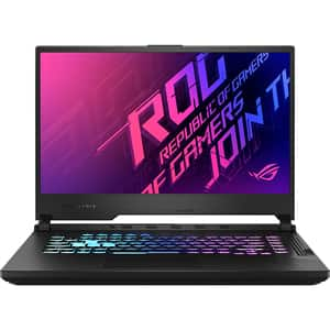 "Laptop Gaming ASUS ROG Strix G15 G512LW-HN078, Intel Core i7-10750H pana la 5GHz, 15.6"" Full HD, 32GB, SSD 2 x 512GB, NVIDIA GeForce RTX 2070 8GB, Free DOS, negru"