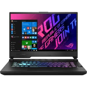 "Laptop Gaming ASUS ROG Strix G15 G512LW-HN037T, Intel Core i7-10750H pana la 5GHz, 15.6"" Full HD, 16GB, SSD 512GB, NVIDIA GeForce RTX 2070 8GB, Windows 10 Home, negru"