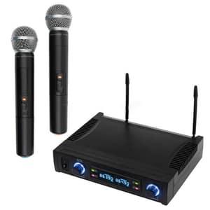 Set microfoane wireless SAL MVN 700, 2 buc, 100m, negru