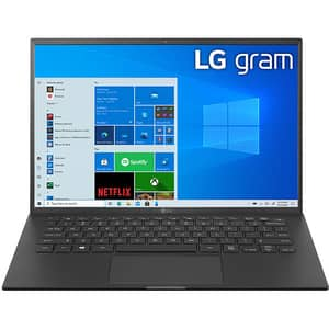 "Laptop LG Gram 14Z90P, Intel Core i5-1135G7 pana la 4.2GHz, 14"" WUXGA, 8GB, SSD 256GB, Intel Iris Xe Graphics, Windows 10 Home, negru"