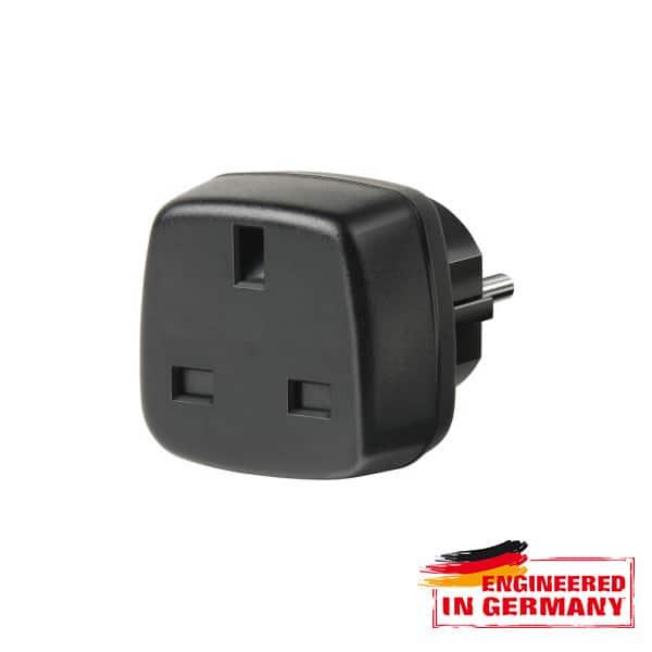 Adaptor priza HAMA 149816, UK - EU Schuko, plastic, negru