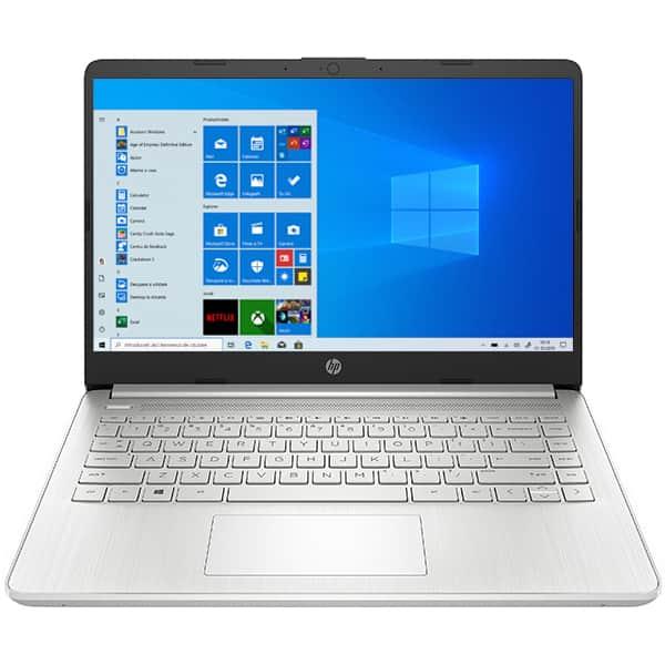 """Laptop HP 14s-fq0001nq, AMD Ryzen 5 4500U pana la 4.0GHz, 14"""" Full HD, 8GB, SSD 512GB, AMD Radeon Graphics, Windows 10 Home, argintiu"""