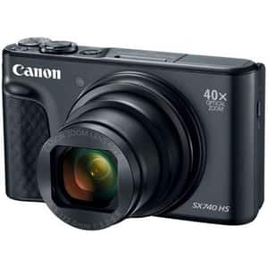 Camera foto digitala CANON PowerShot SX740 HS, 20.3 MP, 4K, Wi-Fi, negru