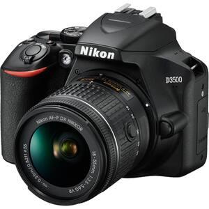 Aparat foto DSLR NIKON D3500, 24.2 MP, negru + Obiectiv AF-P 18-55mm VR