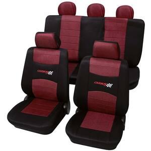 Set huse scaune PETEX Carbon, rosu