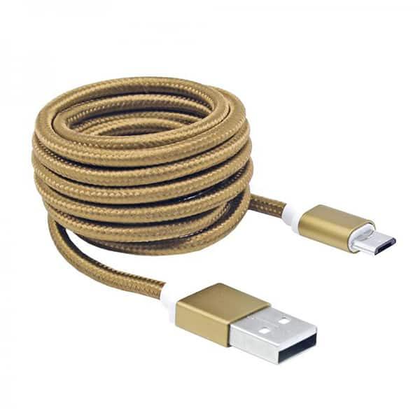 Cablu date SBOX CAB0119, microUSB, 1.5m, Auriu