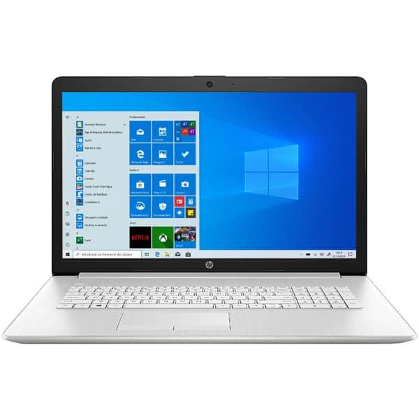 """Laptop HP 17-by3033nq, Intel Core i7-1065G7 pana la 3.9GHz, 17.3"""" Full HD, 16GB, SSD 512GB, NVIDIA GeForce MX330 2GB, Windows 10 Home, argintiu"""