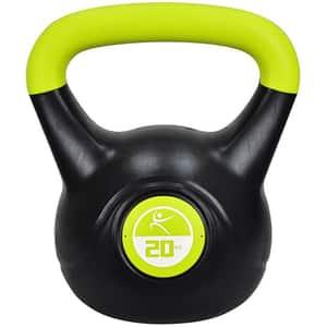 Gantera Kettlebell DHS 529FVINKETT20, 20 kg, negru-verde