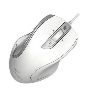 Mouse cu fir HAMA Torino, 1200 dpi, argintiu-alb