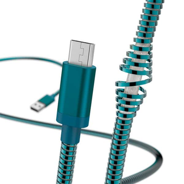 Cablu date HAMA Metal 183336, microUSB, 1.5m, albastru