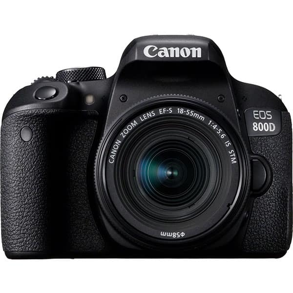 Aparat foto DSLR CANON EOS 800D, 24.2 MP, Wi-Fi, negru + Obiectiv 18-55mm IS STM
