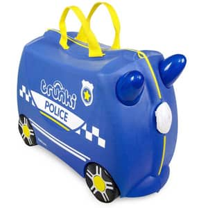 Troler copii TRUNKI Percy Masina De Politie 0323-Gb01, 31 cm, albastru