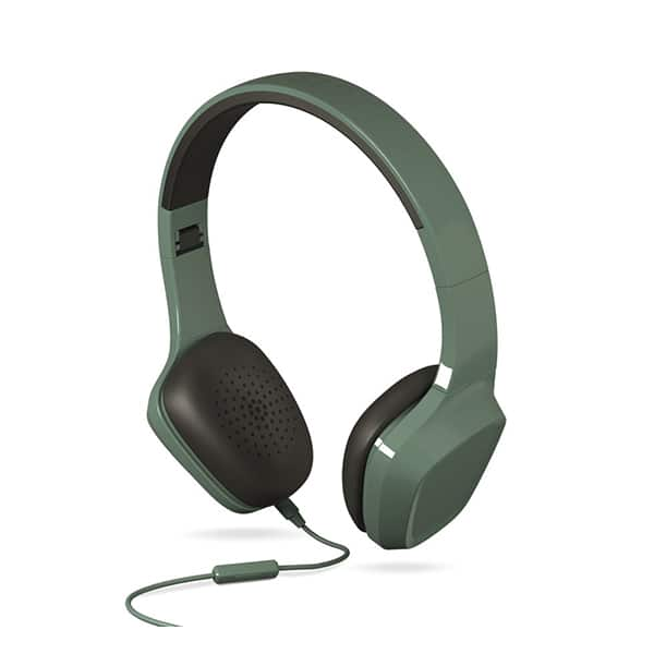 Casti ENERGY SISTEM Headphones 1 ENS428380, Cu Fir, On-Ear, Microfon, verde