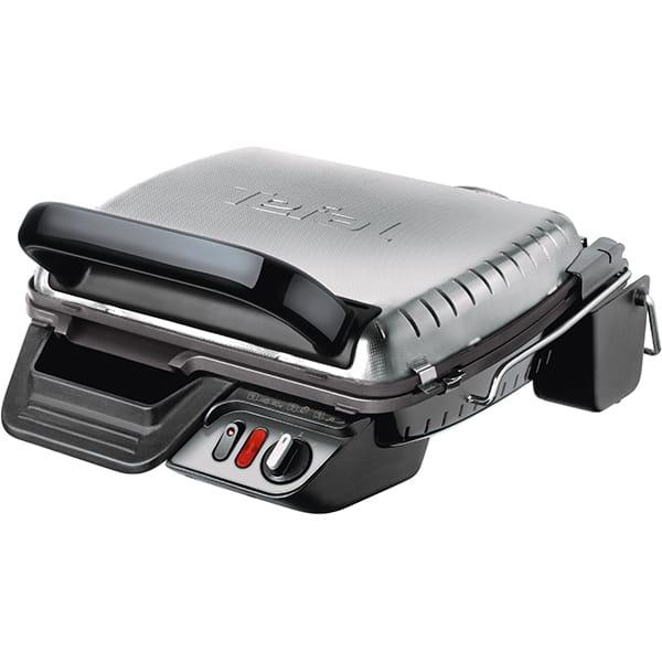 Gratar electric TEFAL UltraCompact 600 Comfort GC306012, 2000 W, 2 pozitii, depozitare verticala, inox