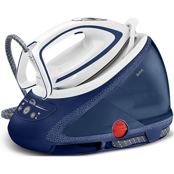 Statie de calcat TEFAL Pro Express Ultimate Care GV9580E0, 2600W, 580g/min, 1.9l, talpa Durilium Airglide Autoclean, alb-albastru